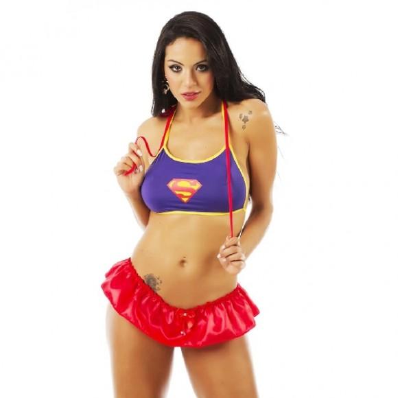 MINI FANTASIA SUPER GIRL PIMENTA SEXY