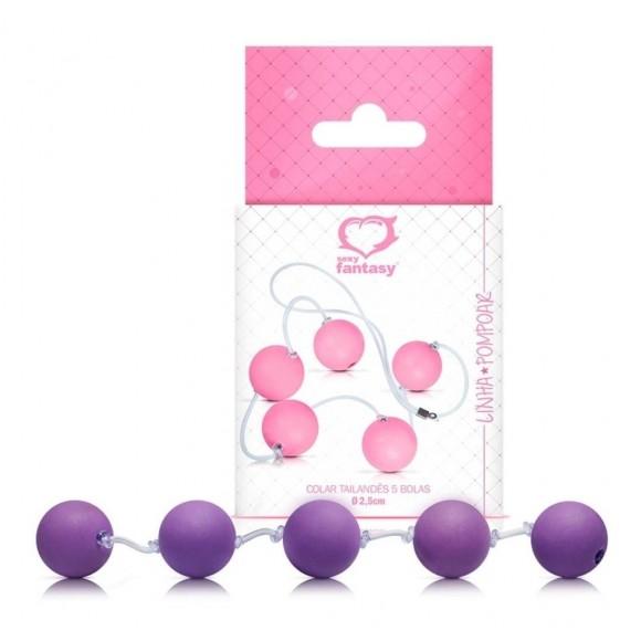 Conjunto de 5 bolas tamanho M Sexy Fantasy