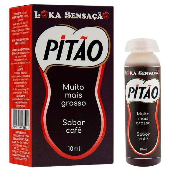 PITÃO MUITO MAIS GROSSO GEL ESTIMULANTE SABOR CAFÉ 10ML LOKA SENSAÇÃO