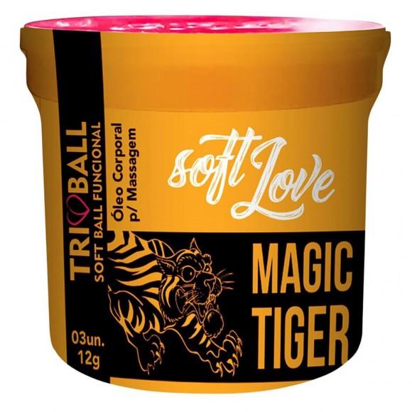 SOFT BALL BOLINHA TRIBALL MAGIC TIGER 12G 03 UNIDADES SOFT LOVE