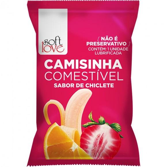 CAMISINHA COMESTÍVEL CHICLETE SOFT LOVE
