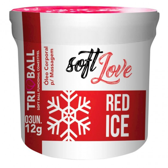 SOFT BALL BOLINHA TRIBALL RED ICE 12g 3 UNIDADES SOFT LOVE
