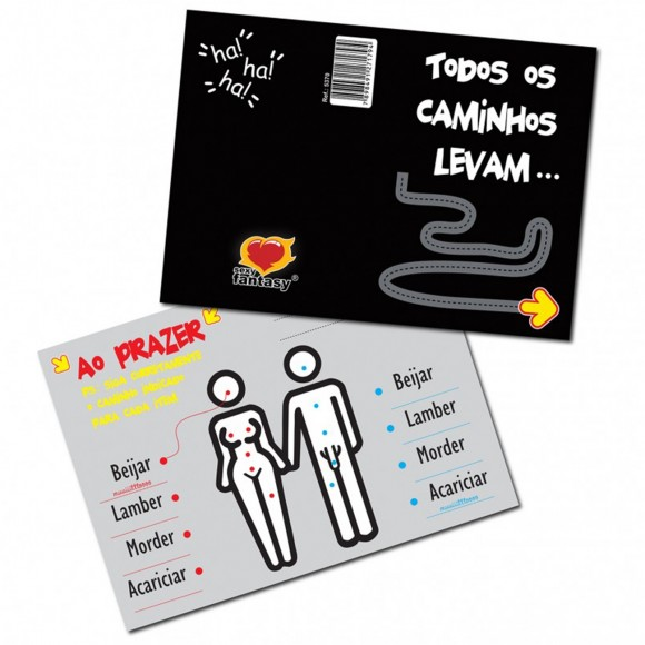 CARTÃO TODOS OS CAMINHOS LEVAM SEXY FANTASY