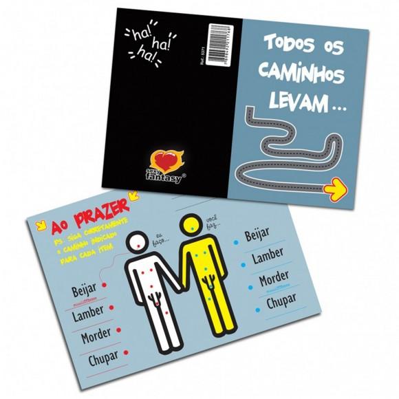 CARTÃO TODOS OS CAMINHOS LEVAM GAY SEXY FANTASY