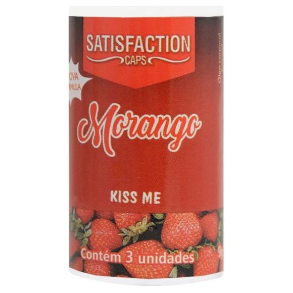 SATISFACTION KISS ME BOLINHA BEIJÁVEL MORANGO 9G