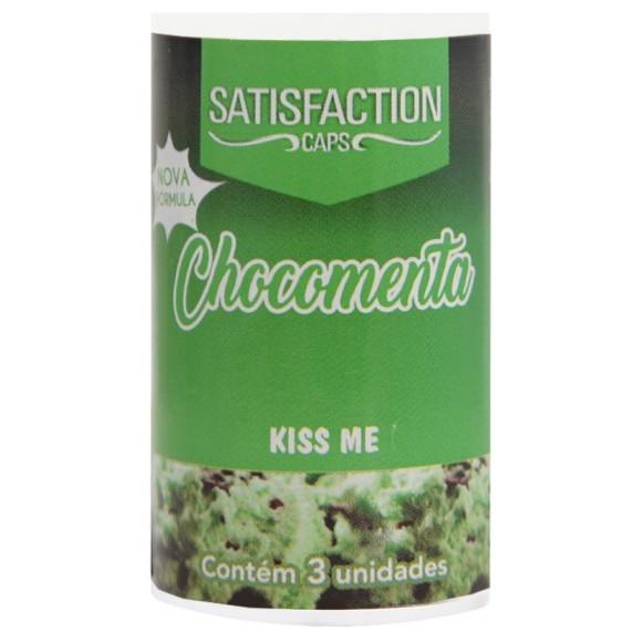 SATISFACTION KISS ME BOLINHA BEIJÁVEL CHOCOMENTA 9G