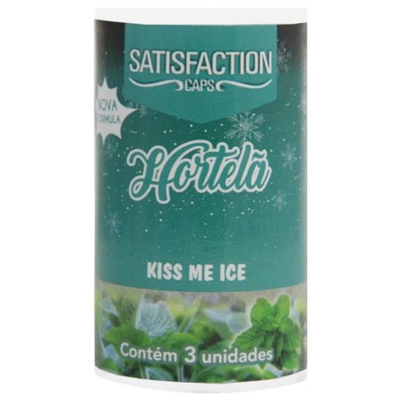 SATISFACTION KISS ME ICE BOLINHA BEIJÁVEL HORTELÃ 9G