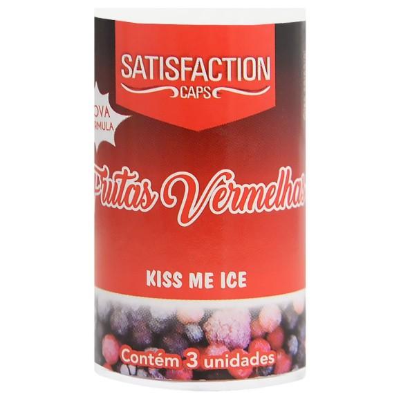 SATISFACTION KISS ME ICE BOLINHA BEIJÁVEL FRUTAS VERMELHAS 9G